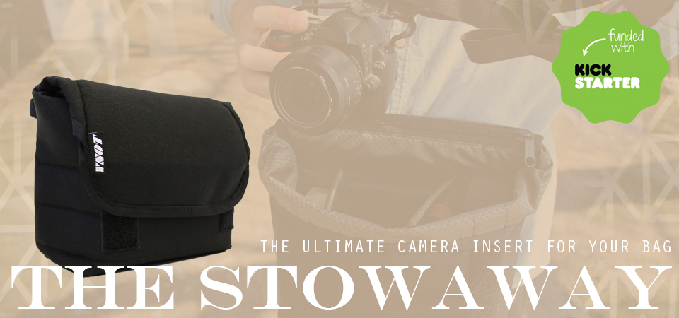 Introducing The Stowaway Camera Insert. Now available!